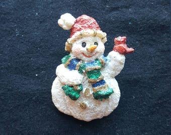 Resin Snowman Christmas Pin