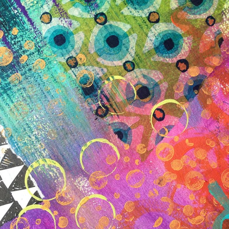 Abstract fine art print /'Carnival II/'