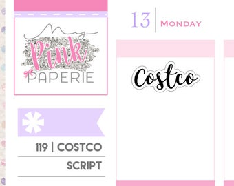 "119 | ""Costco"" Script Stickers"