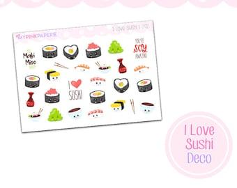 092 | I Love Sushi Deco Stickers