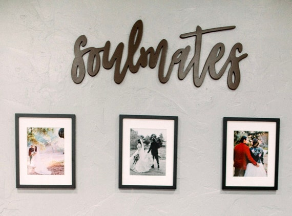 Soulmates Wood Sign | Custom Wall Decor | Custom Wood Cutout