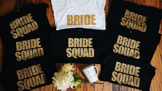 Bride Squad Bundle | Bridesmaid Tees | Bridesmaid Tanks | Maid of Honor t shirts | Bridal Party T shirts
