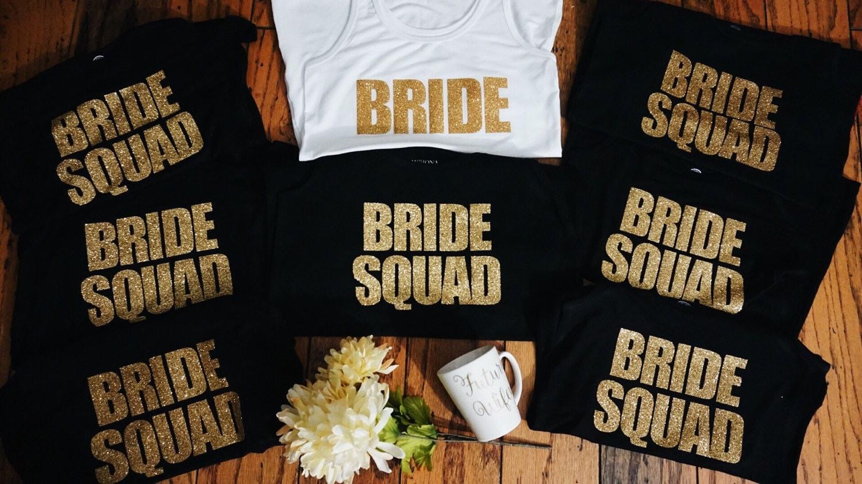 Bride Squad Bundle Bridesmaid Tees Bridesmaid Tanks Maid Of