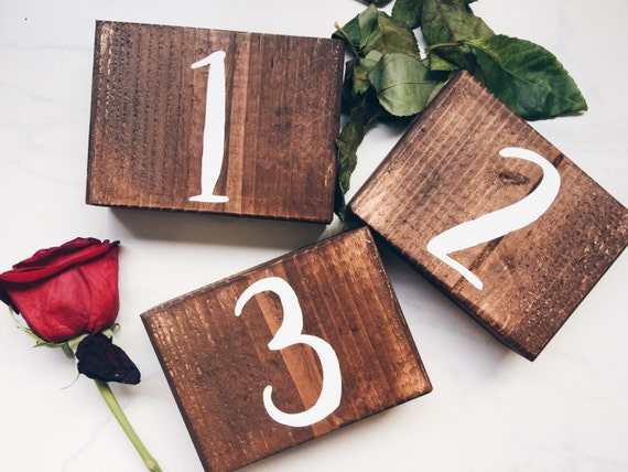 Wooden Table Numbers | Rustic Table Numbers | Wedding Table Numbers