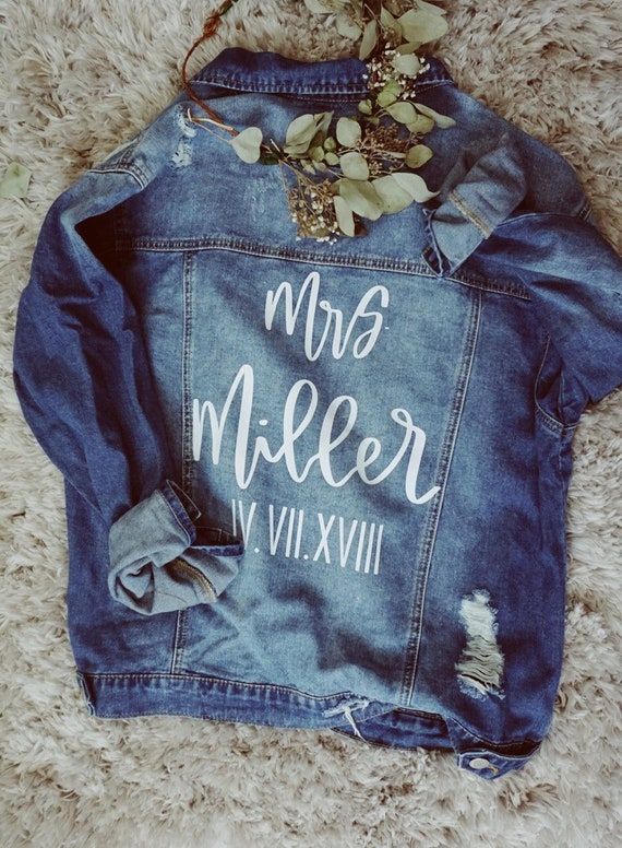 Custom Denim Jacket | Mrs Denim Jacket | Bride Denim Jacket | wife denim jacket