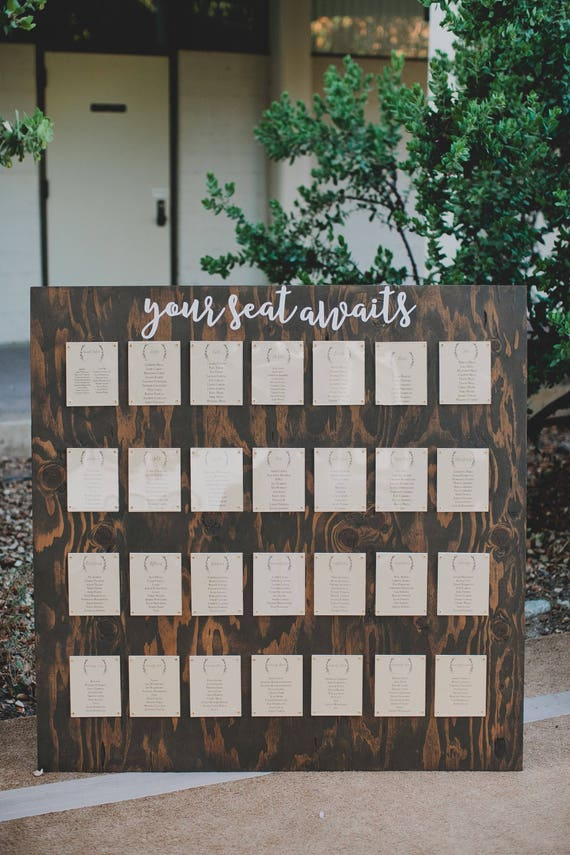 Find Your Seat / Seating Chart | Wedding Wood Seating Chart | Seating Chart Backdrop