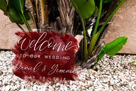 Hand Painted Acrylic Welcome Sign