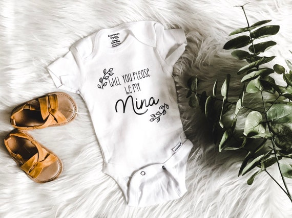 Nina Proposal | Godmother Proposal | Nino Godparent Proposal Onesie