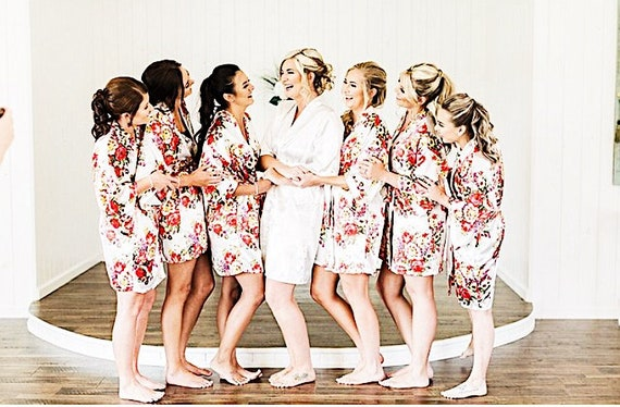 Custom Floral Robes   Floral Bridesmaid Robes