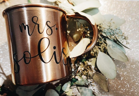 Custom Copper Mug | Mrs. | Bride | Wife Mug |