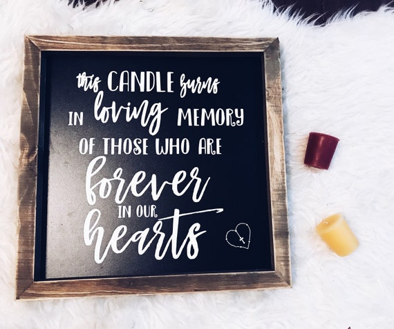 If Heaven Werent So Far Away Sign | Memory Sign | Wedding Memorial Table