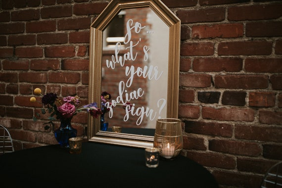Custom vintage mirror sign I wedding decor | mirror signs