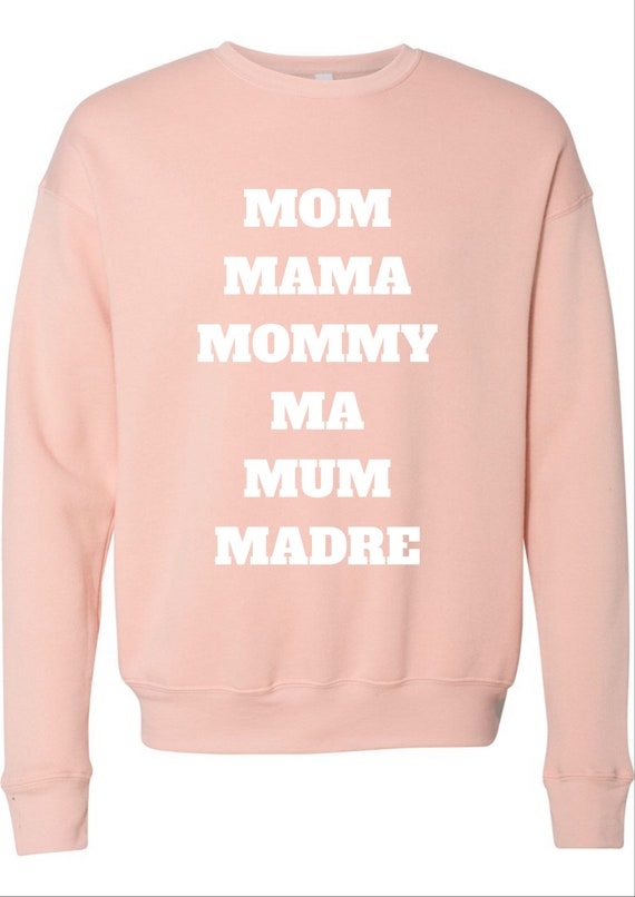 Mom Mama Mommy Name Crewneck Sweater