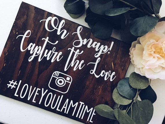Hashtag Sign || wedding hashtag sign || LittleBrownnSuitcase