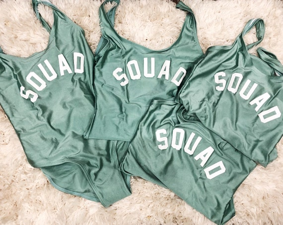 Squad Swimsuit | Squad Swim | Bachelorette Party Swimsuit