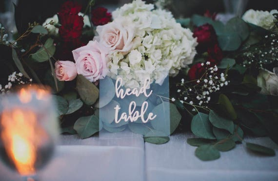 Acrylic table numbers | wedding table numbers