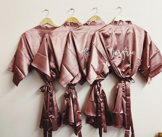 Bridesmaid Satin Robe | Bridesmaid gift Robes | satin wedding robes