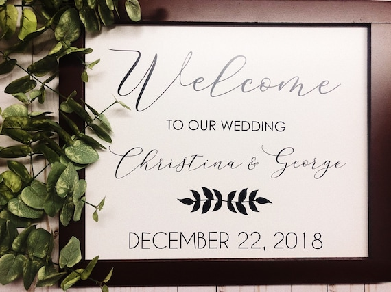 Wood Framed White Wedding Sign