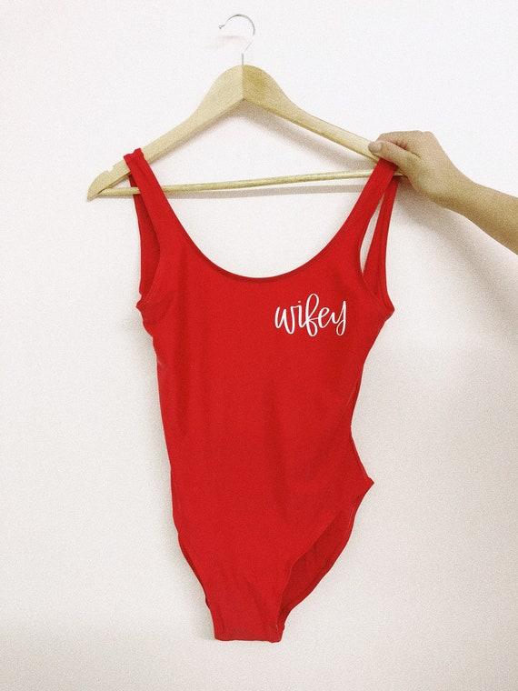 Wifey Swimsuit | Wifey Bathing Suit | Wifey Gift