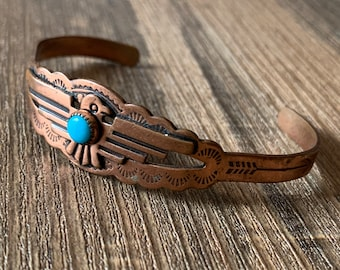 teal and black with nickel plate fittings 10-12 Thorn Silhouette Leather Cuff Bracelet SALE Lace and Lakes