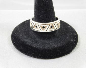 Sterling Ring by Peter Stone, Size 8.5