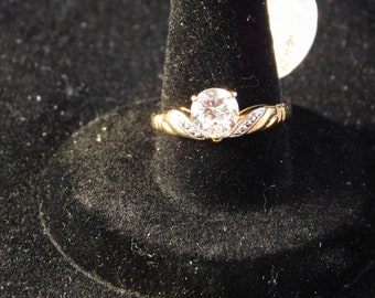 Linenwold CZ & Gold Plated Ring, New In Box, Size 7