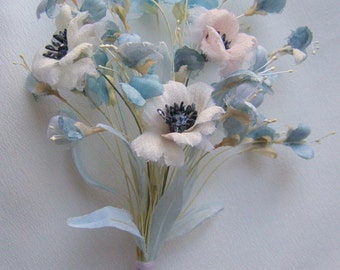Bouquet of wild flowers with poppies for the doll