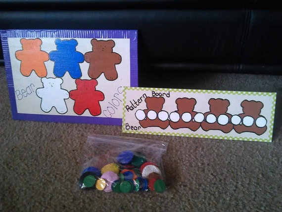 Bear color match and patterning set