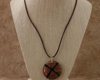 Wood Pendant Necklace for Men | Wood Necklace for Men