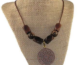 Wood Necklace - Wood Pendant Necklace