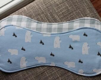 Flannel Burp Cloth - Polar Bears