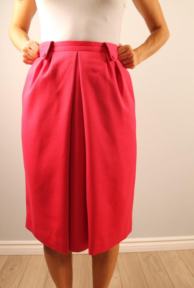 2da6a0f326e48c Vintage pencil skirt high waisted tulip shape pink magenta   Etsy