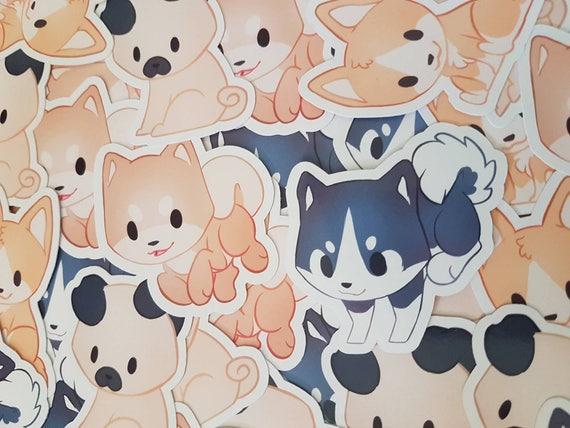 Chibi Hund Haustier Sticker Pack Tier Husky Mops Etsy