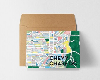 Chevy Chase DC Greeting Card