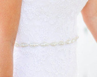 Delicate Wedding dress Bridal Sash,Wedding Dress Sash Belt,  Rhinestone Sash,  Rhinestone Bridal Bridesmaid Sash Belt, Wedding dress sash