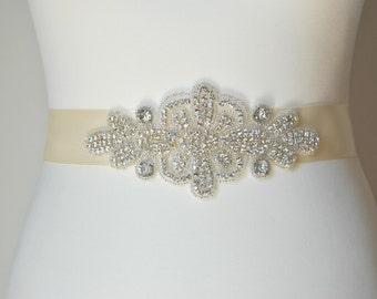 Sale Bridal Sash Crystal Rhinestones ,Wedding Dress Sash Belt,  Rhinestone Sash,  Rhinestone Bridal Bridesmaid Sash Belt, Wedding dress sash