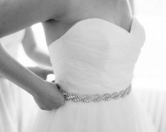 Wedding dress Bridal Sash,Wedding Dress Sash Belt,  Rhinestone Sash,  Rhinestone Bridal Bridesmaid Sash Belt, Wedding dress sash