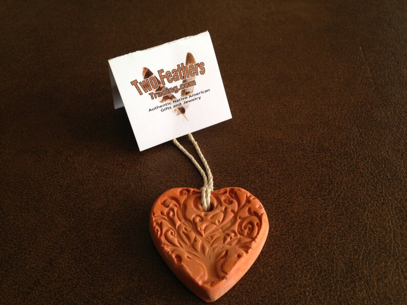 doTERRA Young Living Terracotta Clay AROMATHERAPY Tree of Life HEART PENDANT ~ Essential Oils Diffuser