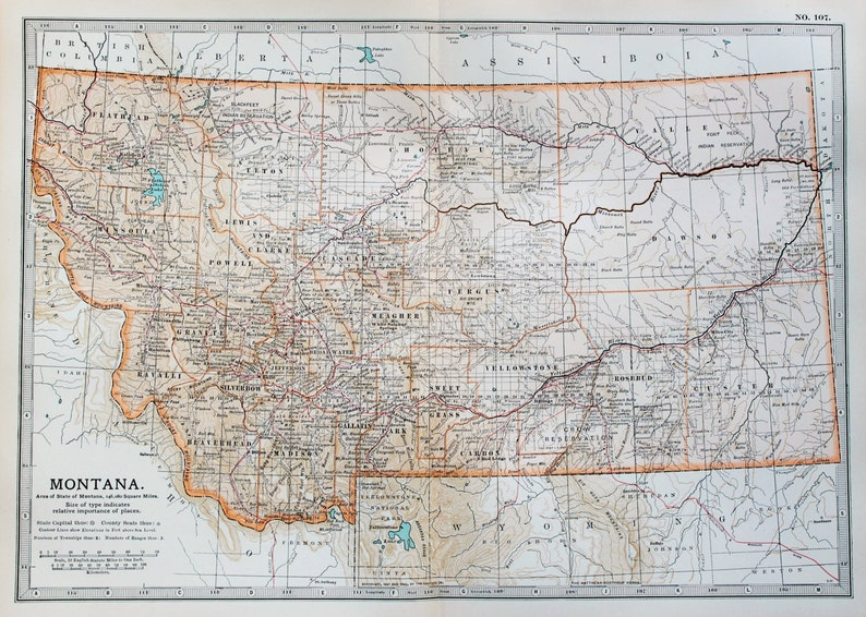 on montana in usa map