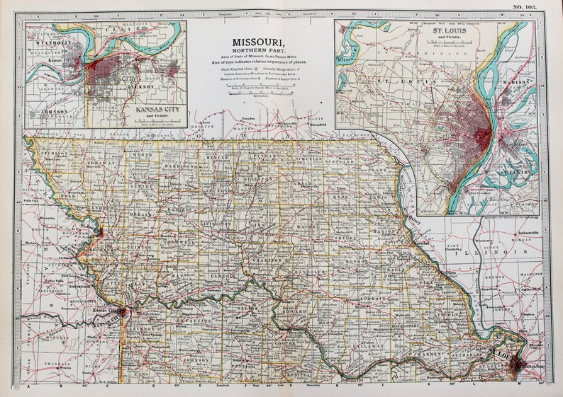 Antique Map : Northern Missouri, St. Louis, Kansas City, USA, US State on brooklyn mi map, tupelo mi map, indianapolis mi map, helena mi map, kansas city border, henderson mi map, ridgeland mi map, lawrence mi map, buffalo mi map, green bay mi map, washington mi map, youngstown mi map, kansas-nebraska road map, milwaukee mi map, ohio mi map, kansas city attractions for couples, kansas city aquarium, kansas city counties, toledo mi map,