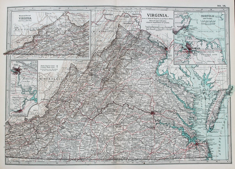 Antique Map : Virginia, USA, US State Map. Encyclopedia Britannica, on route 6 map, route 76 map, i-675 map, the geysers ca map, route 20 map, i-5 map, detailed ohio road map, i-25 colorado map, i-22 map, i-84 map, interstate 76 map, i-81 map, i-75 map, i-270 map, i-35 map, i-10 map, i 476 exit map, i-64 map, i-93 map, i-17 map,