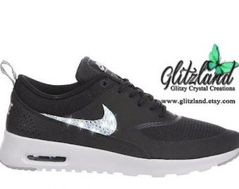 601dfe3477175 Swarovski Nike Air Max Thea Customized with SWAROVSKI® Crystals Many Colors