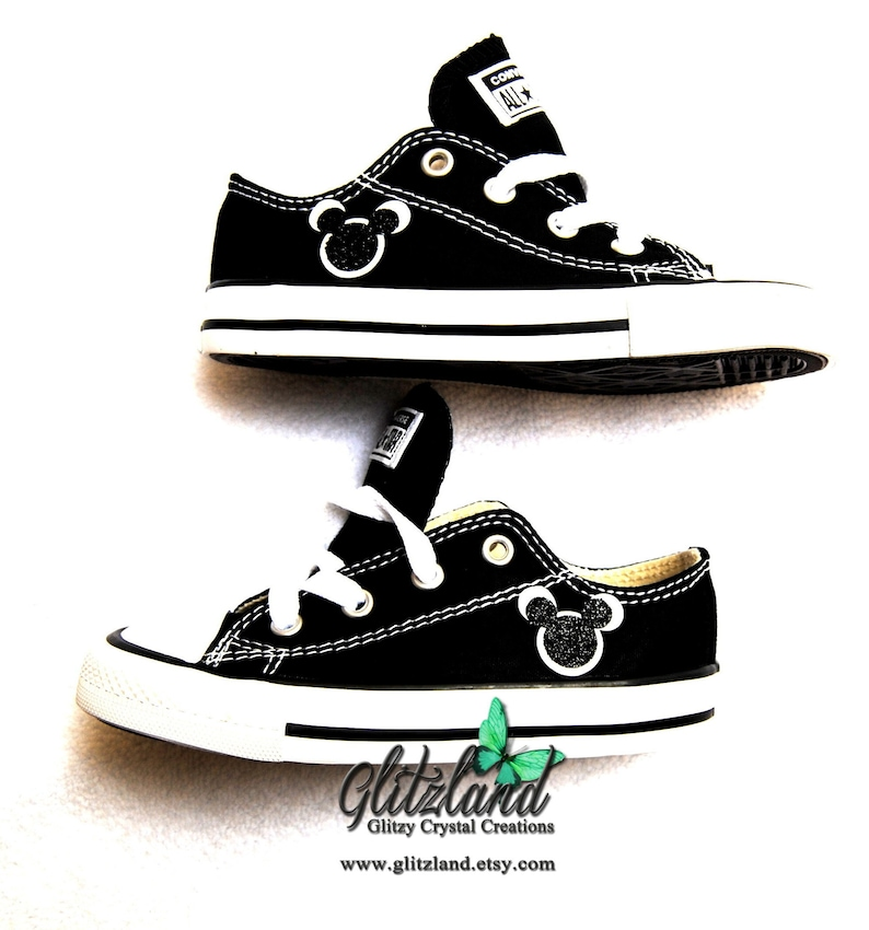 c7ca85f9e Kids Converse Mickey Shoes Infant Toddler No Name Party