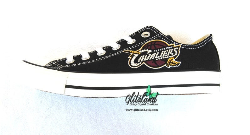 7bcecebd682fb2 Adults CONVERSE Chuck Taylor Low Top With Cleveland Cavaliers Logo  Customized wi... Adults CONVERSE Chuck Taylor Low Top With Cleveland  Cavaliers Logo ...