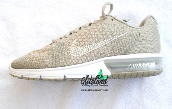 8668ac9aa8a21 Swarovski Nike Air Max Sequent 2 Customized with SWAROVSKI® Crystals Many  Colors