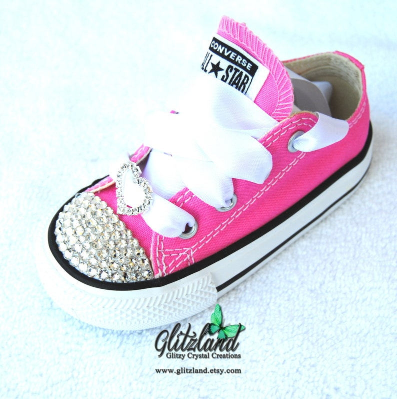e874cbbecdc8 Kids Converse Bling Crystals Preschool Sizes 11-3 Bedazzled
