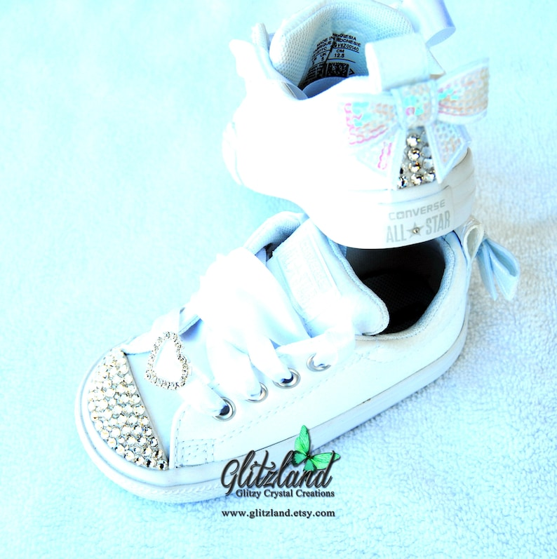 884e2dee634cc6 All White Converse Baby Infant Toddler Leather Sneakers