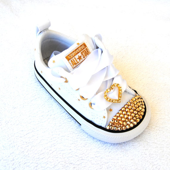 e71f9bfbf516 Ready To Ship Toddler Size 5 SWAROVSKI® Converse Toddler Chuck
