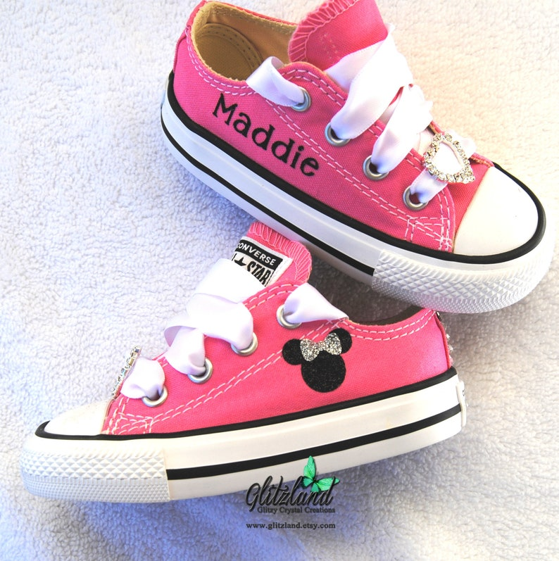 c9ced19186946a Pink Converse Bling Converse Baby Toddler Crystals