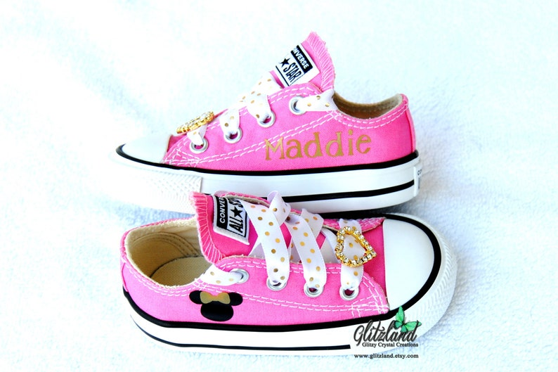Pink Women Minnie Mouse Converse Chuck Taylor All Star Lo  eda14fcea7f3